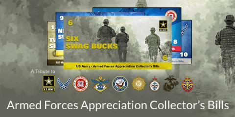 Armed Forces Appreciation Collector's Bills