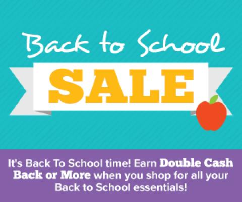 Image: Earn double cash back at select stores