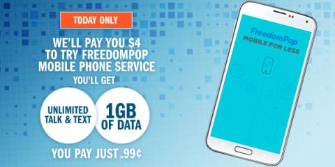HOT Swagbucks DEAL: Get 400 SB when you get a $0.99 SIM card from FreedomPop