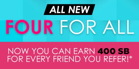image Kawartha Lakes Mums blog image All  New Four for All Now You can Earn 400 SB for every friend you refer *