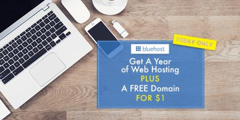 Get a Year of Web Hosting for $1, Plus a FREE Domain