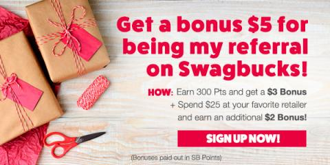 Swagbucks = Free Shopping + $5 Bonus