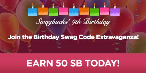 Swag Code Extravaganza: Birthday Edition!