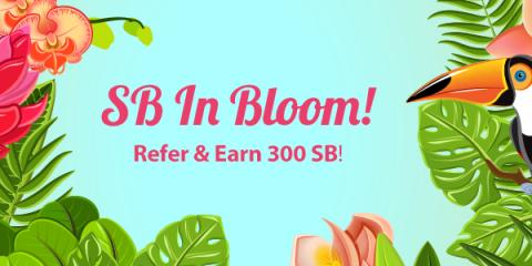 When someone signs up through your link and earns 300 total SB before 10/1/17, you each get a 300 SB bonus!