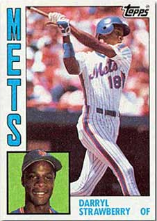 1984 Daryl Strawberry Topps Rookie Card