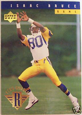 1994 Isaac Bruce Upper Deck Rookie Card