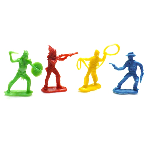 Classic Cowboy & Indian Toys (4 pieces)