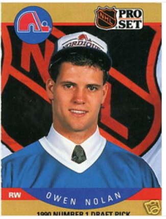 1990 Owen Nolan Pro Set Rookie Card