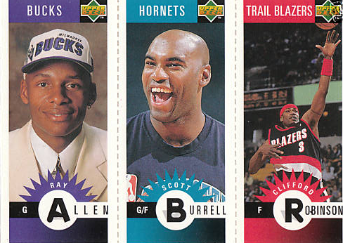 1996 ray allen upper deck cc rookie card rewards store