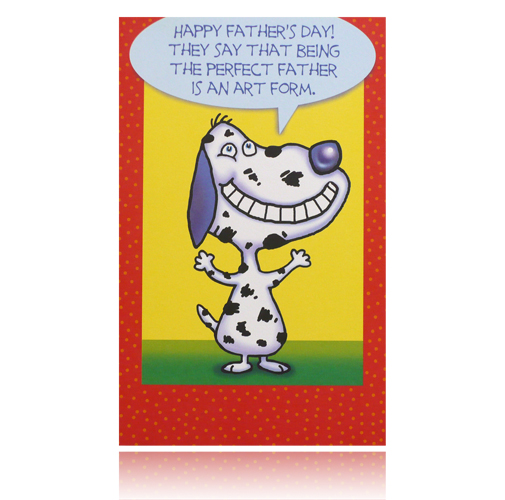"Father's Day ""Perfect Father"" Greeting Card (Dog)"