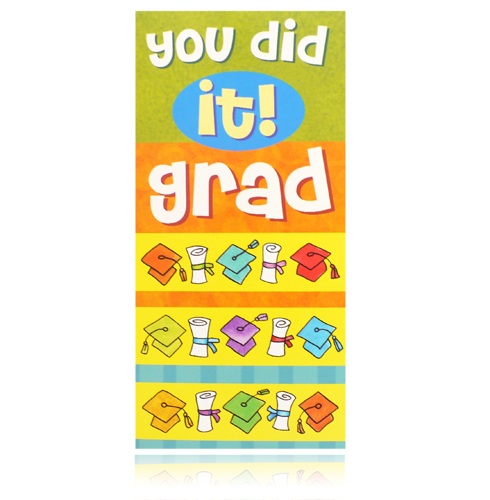 You Did It! Grad Money Holder