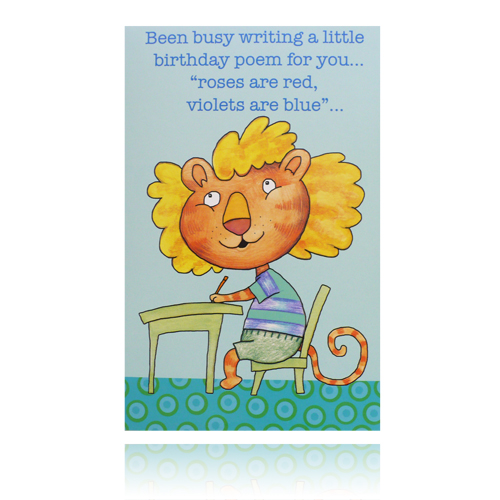 Funny Birthday Poem Greeting Card - Rewards Store
