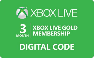 Xbox Live Gold Membership - 3 Month Subscription
