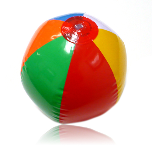 Inflatable Six-Color Beach Ball