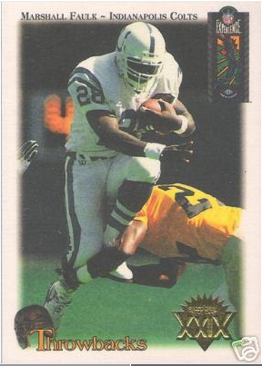 1994 Marshall Faulk Classic Throwback Rookie Card