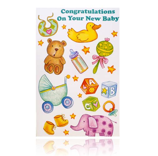 Congratulations On Your New Baby Greeting Card