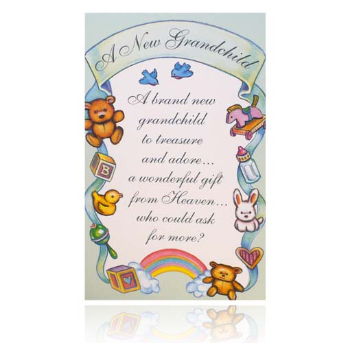 A New Grandchild Greeting Card
