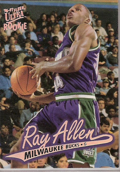 1996 ray allen fleer ultra rookie card rewards store