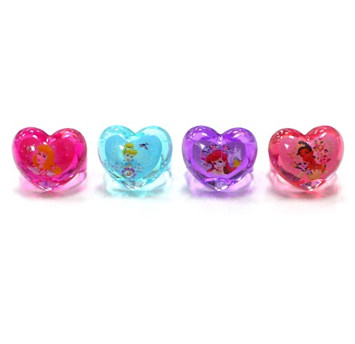 Disney Princess Shaped Plastic Rings