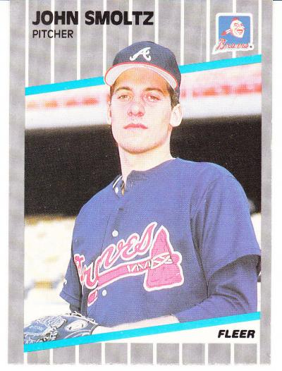 1989 John Smoltz Fleer Rookie Card