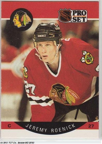 1990 Jeremy Roenick Pro Set Rookie Card