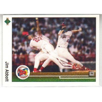 1989 Jim Abbott Upper Deck Rookie Card
