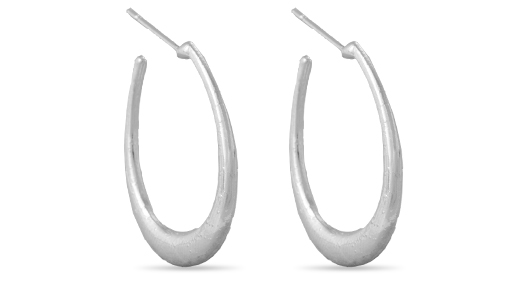 Elegant Earring Hoops (Silver Plating)