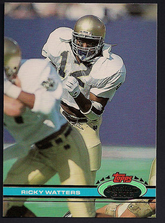 1991 Ricky Watters Stadium Club Rookie Card