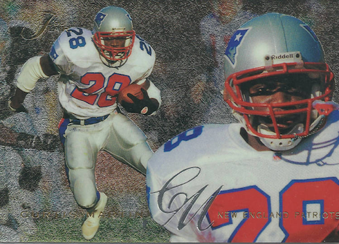 1995 Curtis Martin Fleer Flair Rookie Card