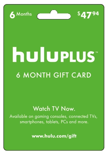 Hulu Plus Subscription e-Gift Card - 6 Months