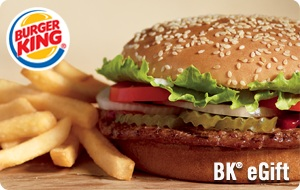 Burger King e-Gift Card - $15