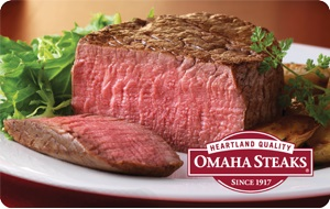 Omaha Steaks $15 Gift Card