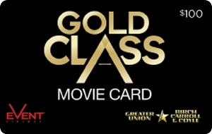 Event Cinemas Gold Class eGift Card - $100 AUD