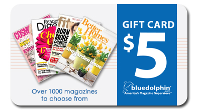 Blue Dolphin Magazines Gift Card - $5