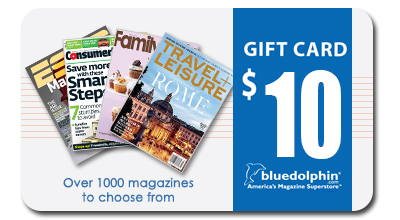 Blue Dolphin Magazines Gift Card - $10