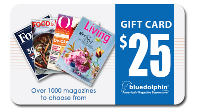 Blue Dolphin Magazines Gift Card  $25 Gift Card