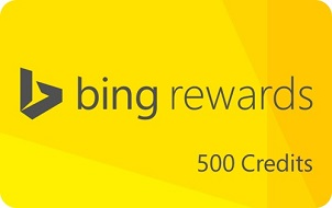 500 Bing Rewards Credits