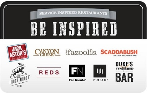 Service Inspired Restaurants Gift Card - $25 CAD