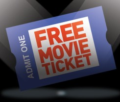 One Free Movie Ticket