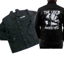 "The Used - "" Burning Bridges Denim Jacket"""