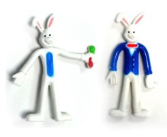 Easter Bunny Poseable Figurine