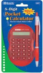 8-Digit Calculator w/Bonus Pen