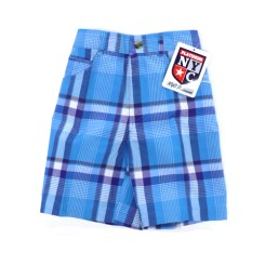 NYC Platinum - Blue Plaid Shorts