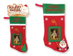 Christmas Stocking With Photo/Gift Card Holder
