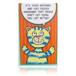 People Get Better Funny Birthday Card