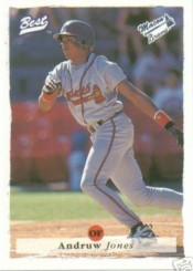 1995 Andrew Jones Minor League Rookie Card