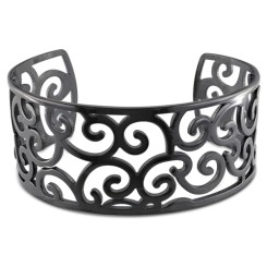 Stainless Bangle with Complete Black Rhodium