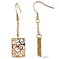 Stainless Steel Earring with Bronze Finishing