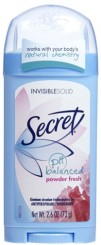 Secret Invisible Solid Powder Fresh Deodorant
