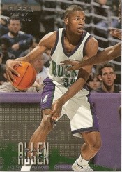 1996-97 Ray Allen Fleer Rookie Card